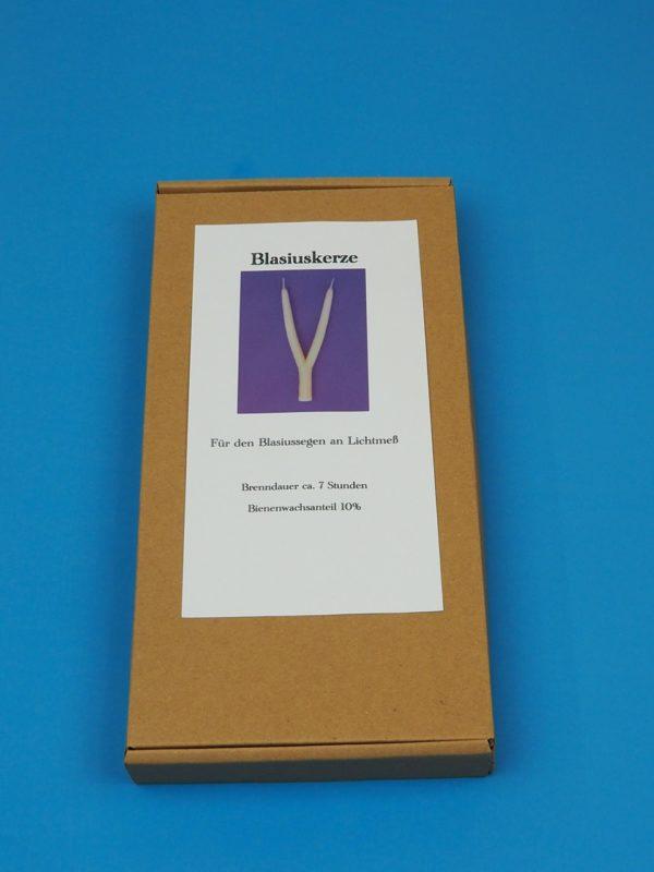 Blasiuskerze Blasiussegen Lichtmeß Mehrarmig Handarbeit Verpackung