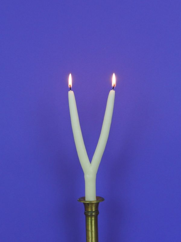 Blasiuskerze Blasiussegen Lichtmeß Mehrarmig Handarbeit brennend