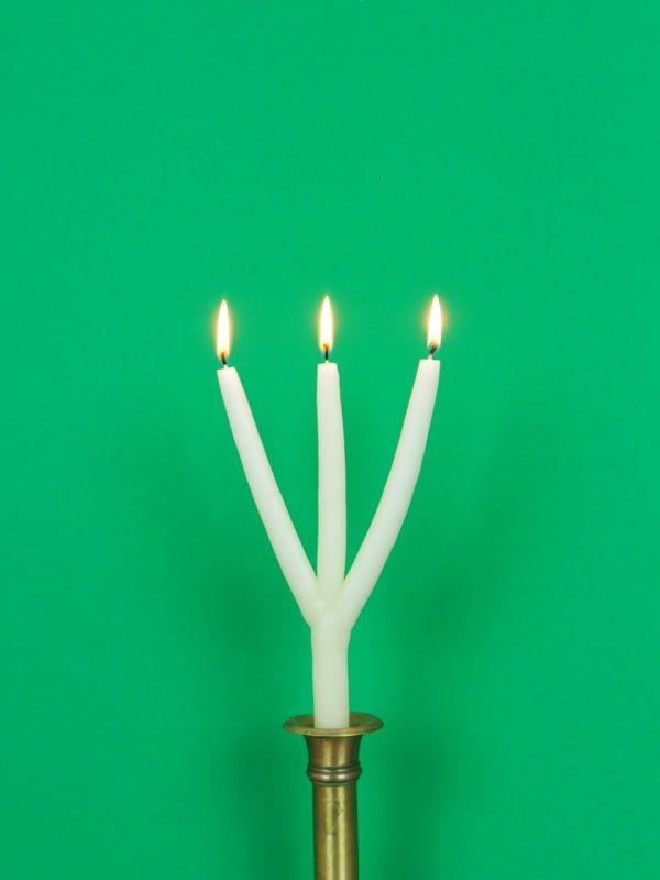Dreiarmige mehrarmige Schwedische Weihnachtskerze Kerze