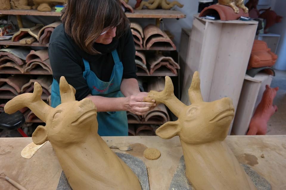 Hirsch aus Keramik
