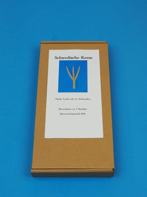 dreiarmige Kerze Schweden 3 armig mehrarmig Brauchtumskerzen Karton