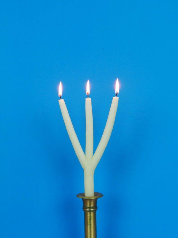 dreiarmige Kerze Schweden 3 armig mehrarmig Brauchtumskerzen